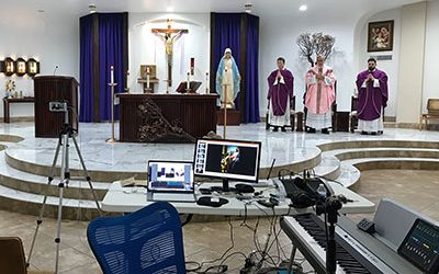 How We Live Streamed Our Mass with Less than 24 Hours Notice (with Great Audio)